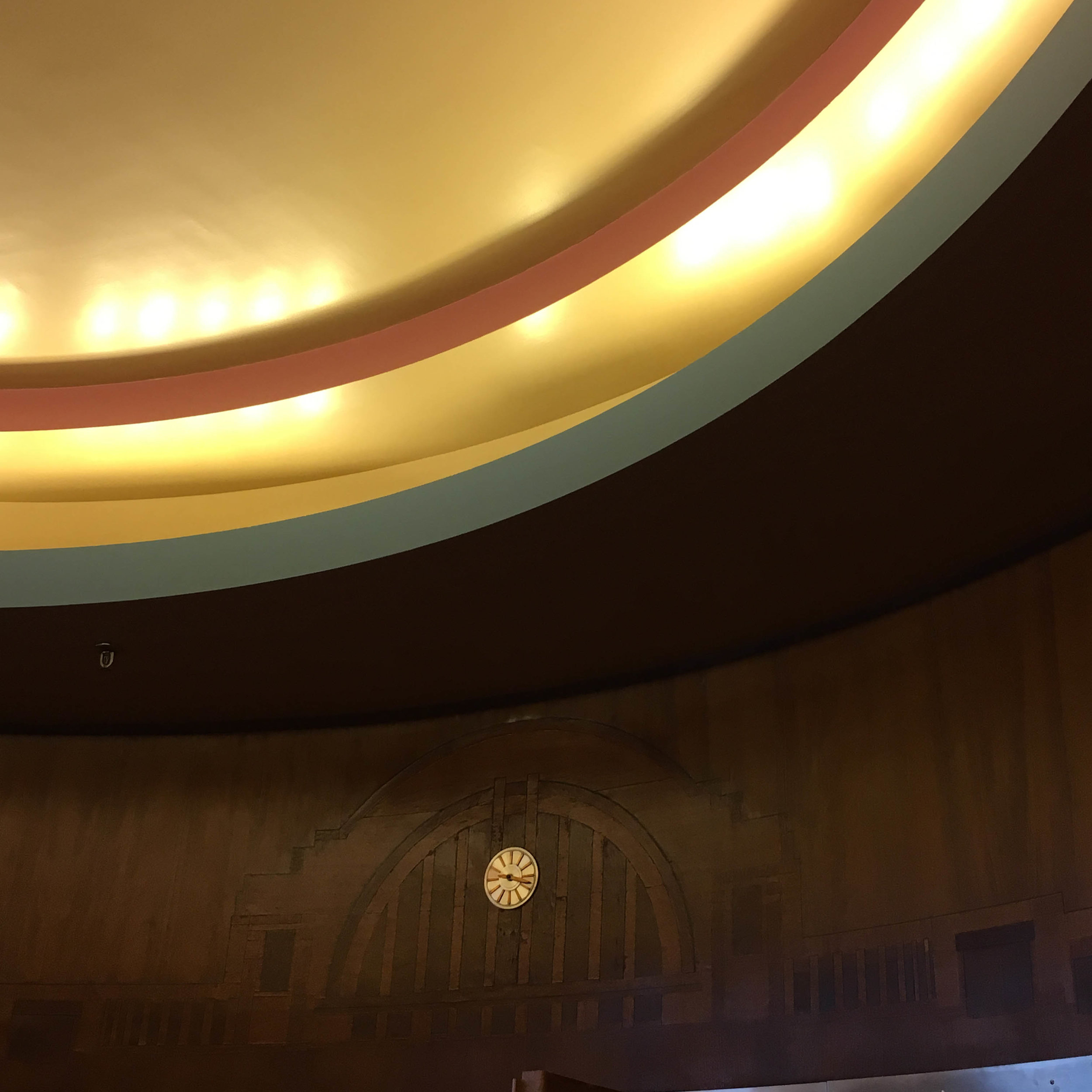 Another detailed design in the President's office.  This design of Union Terminal in wood was truly beautiful.
