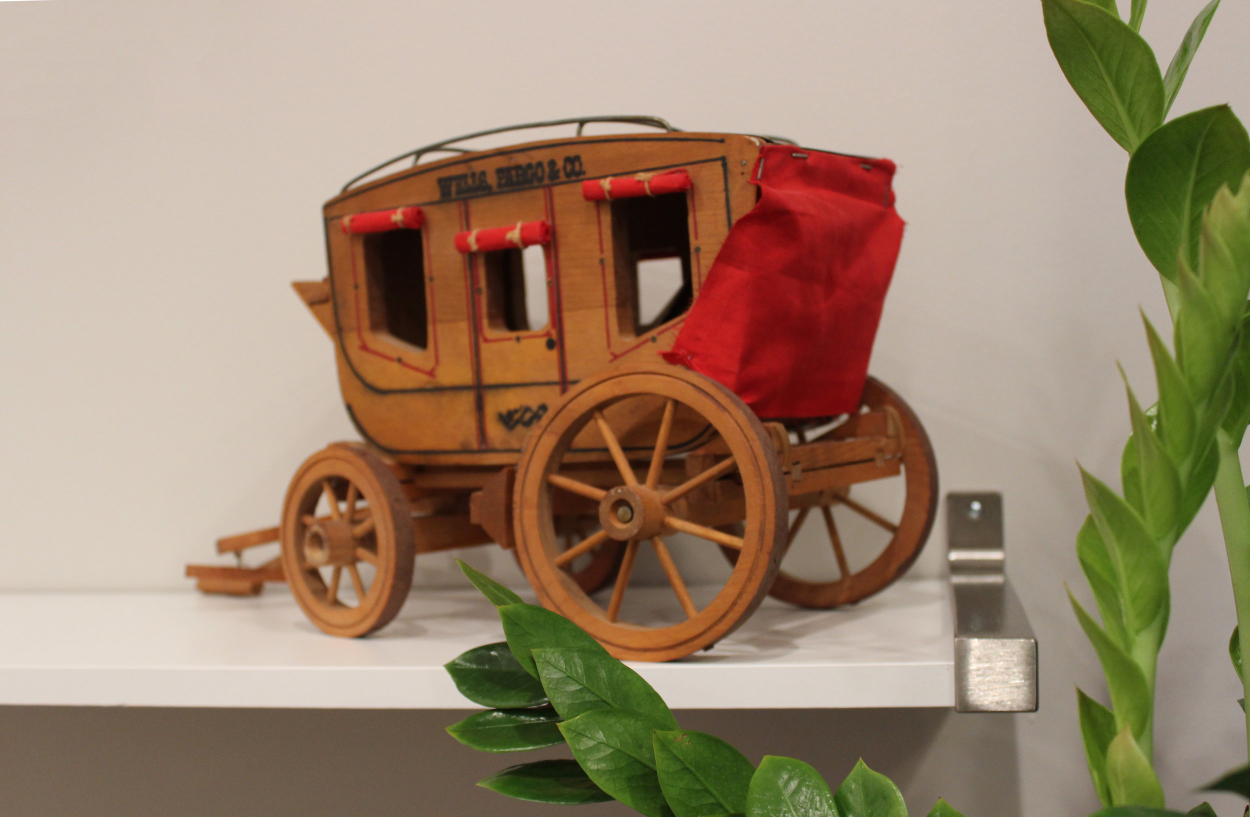 O-ho the Wells Fargo Wagon is a-comin' down the street.. // Details from the financial office's conference room