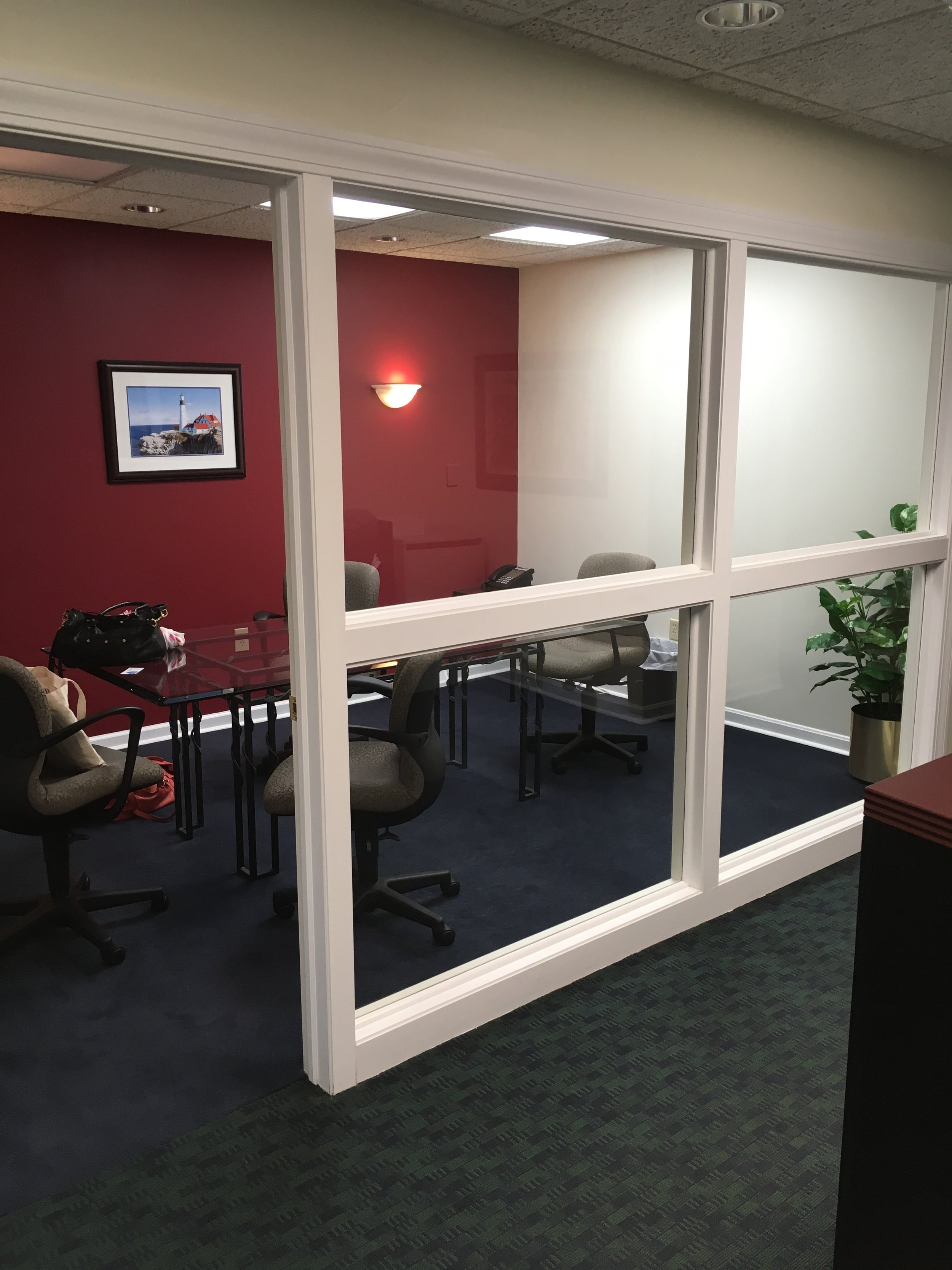BEFORE: view into the conference room.