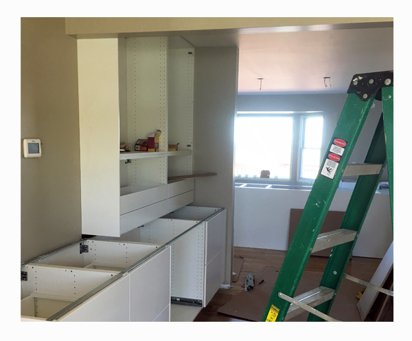 FOUNDRYno.201_Treeridge_Kitchen-Design_Main-Floor-Entertaining_Space-Planning_Construction_Progress_Cabinetry-Install