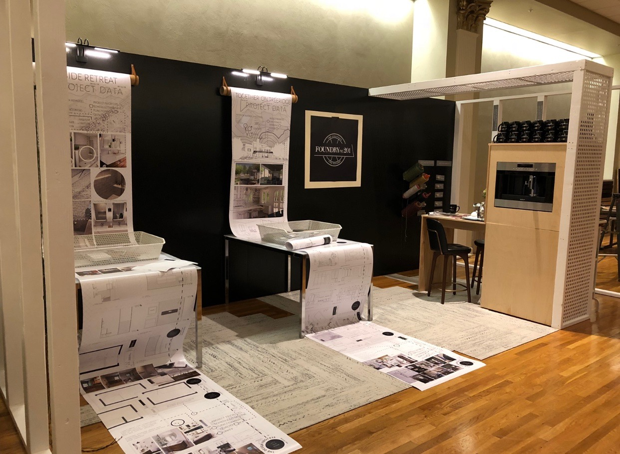Overall of our Design Build Cincy 2018 booth