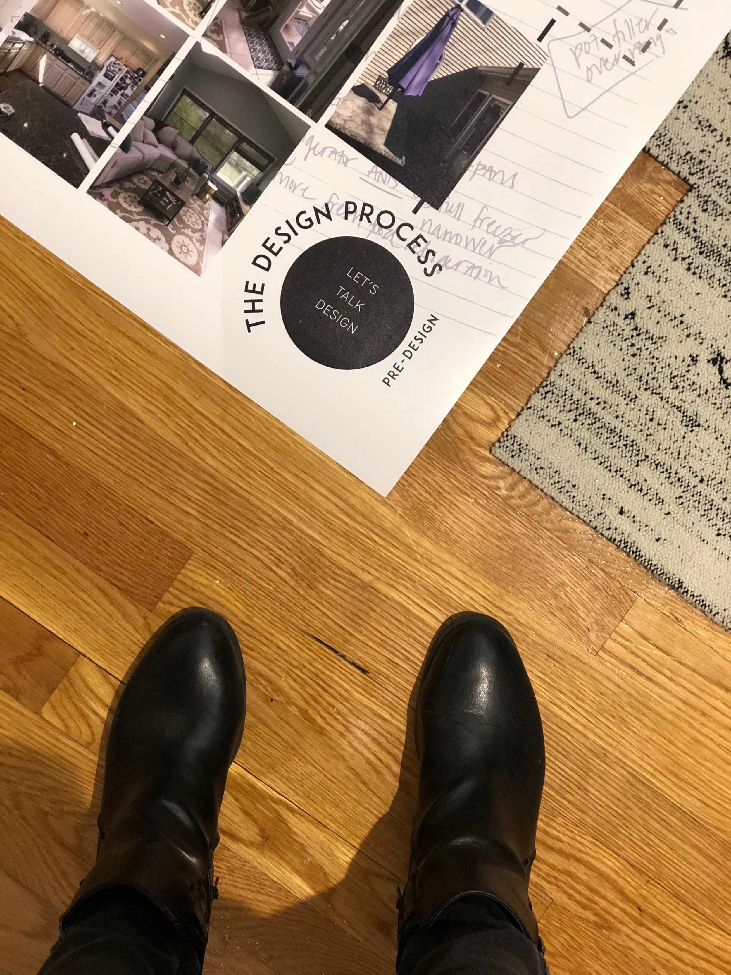#fromwhereistand: The design process is graphically shown on each print along with the work that happens in each phase of design.