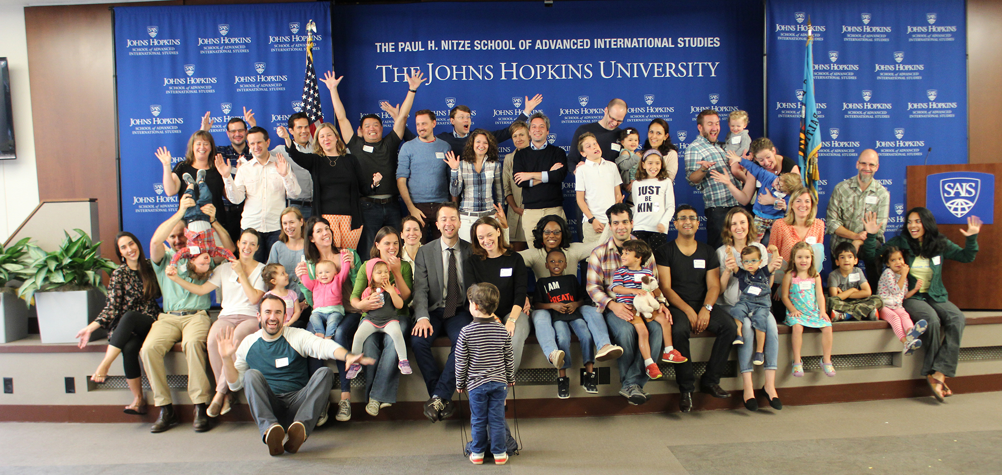 Members of the Class of 2007 and their families celebrate their 10th reunion in Washington, DC.