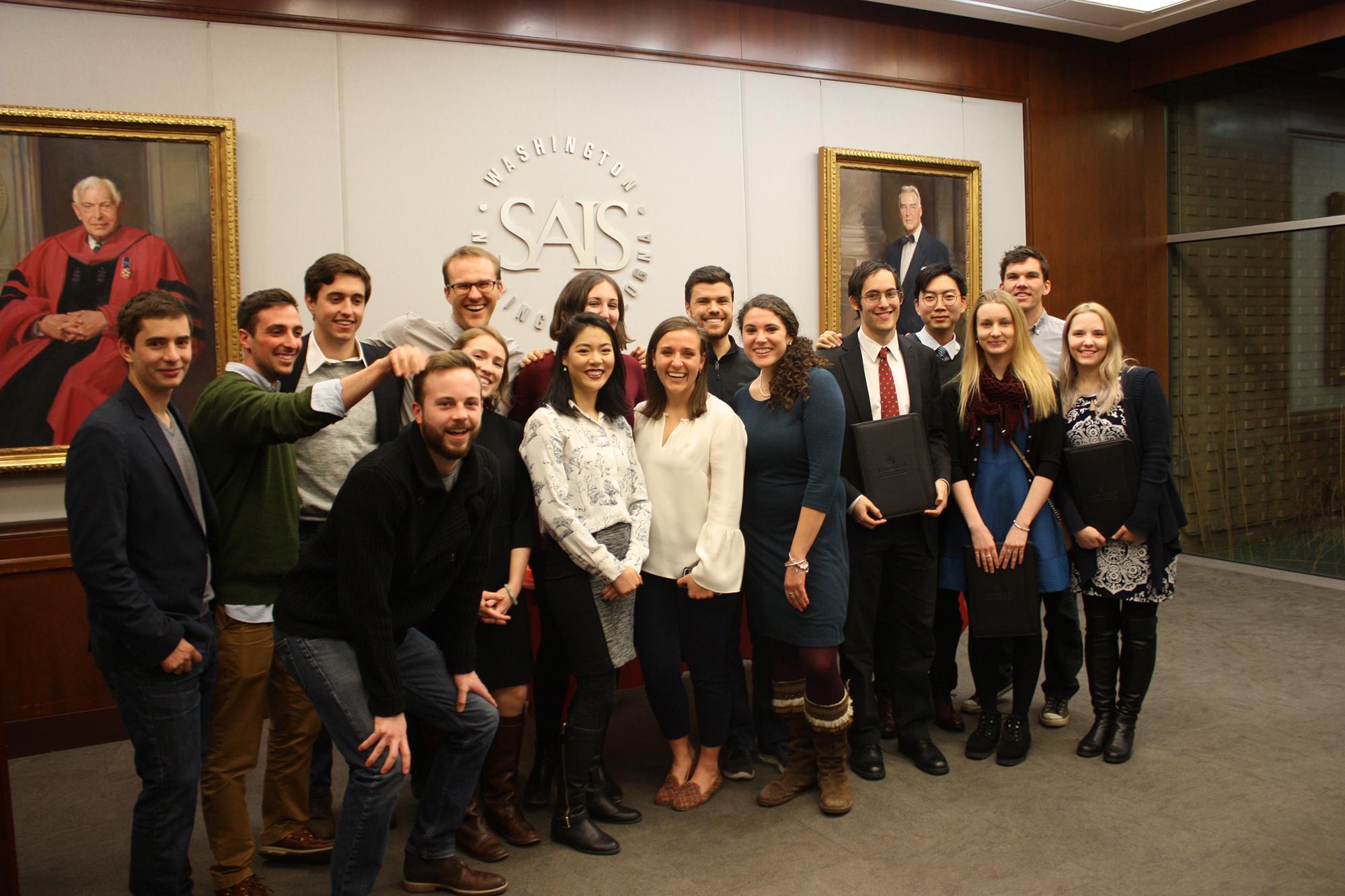 December 2017 graduates of the Hopkins-Nanjing Center Certificate/Johns Hopkins SAIS MA program