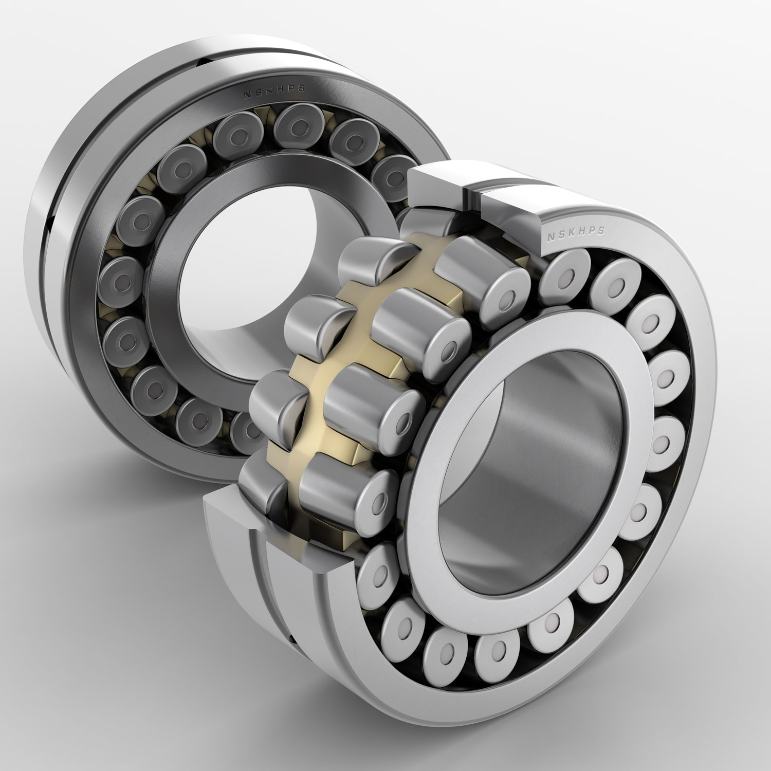 NSK Bearings with Sectioned Cutaway