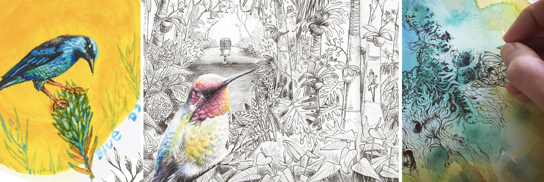 maja sereda artist retreat banner sketchbook