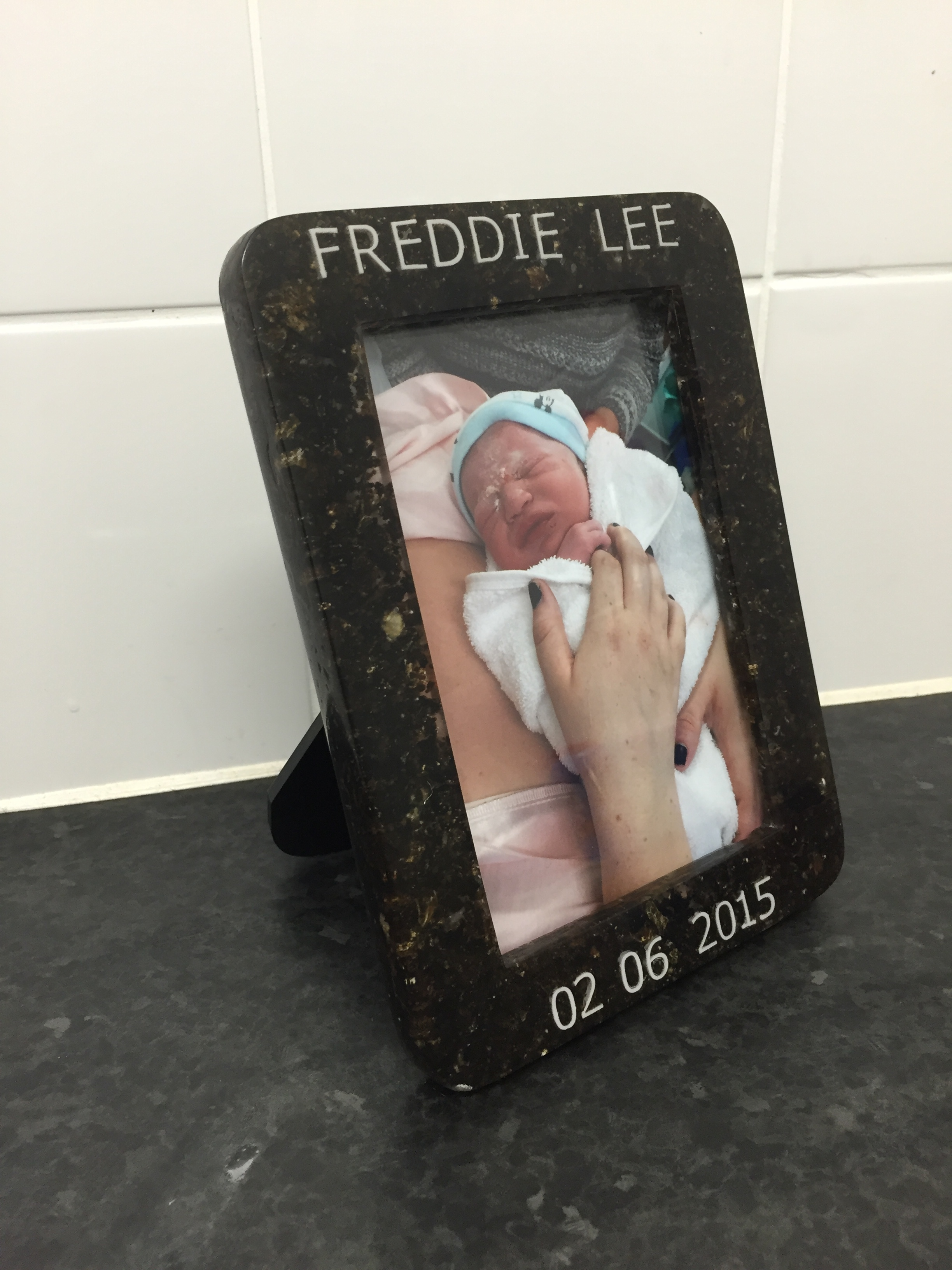 Previous Client's Placenta Photo Frame (Shannon, Essex UK)