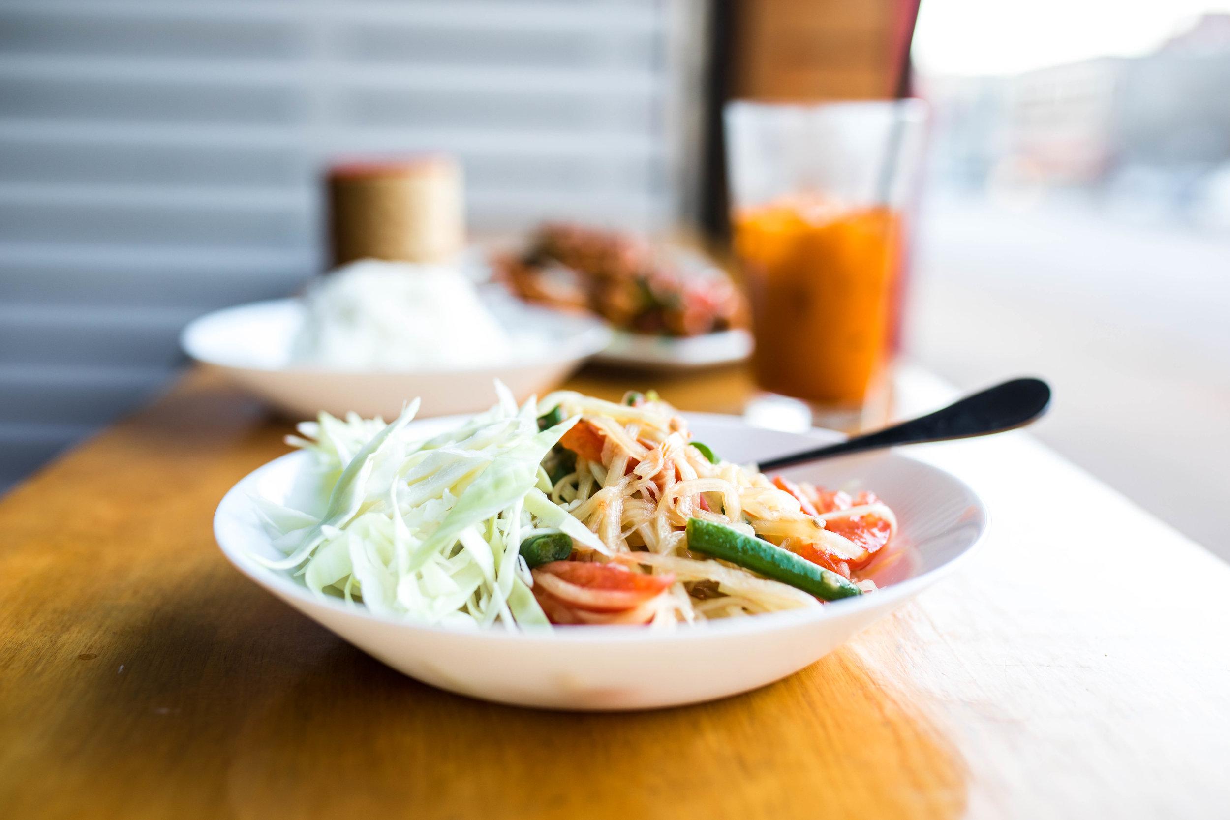 Best Thai Food in Kansas City: Koko Thai-Papaya Salad, Kasim Hardaway