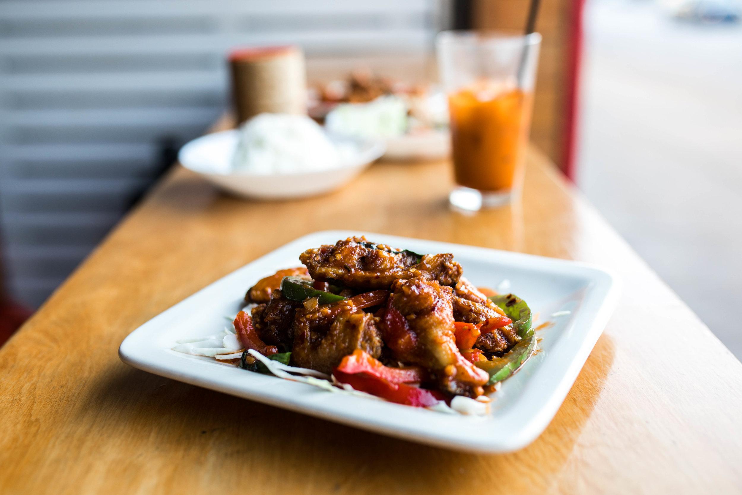 Best Thai Food in Kansas City: Koko Thai-Thai Basil Wings, Kasim Hardaway
