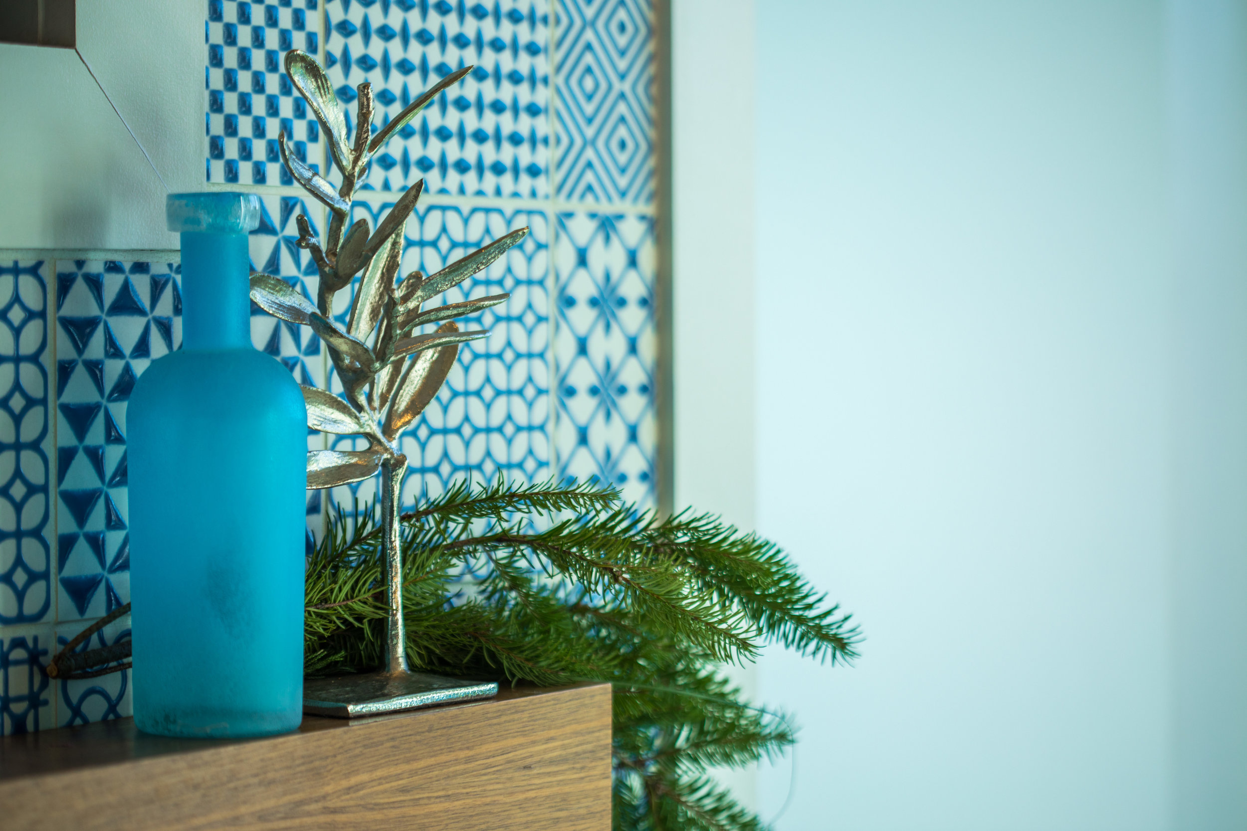 Add a little Greenery! - Subtle decor is sometimes the best decor.