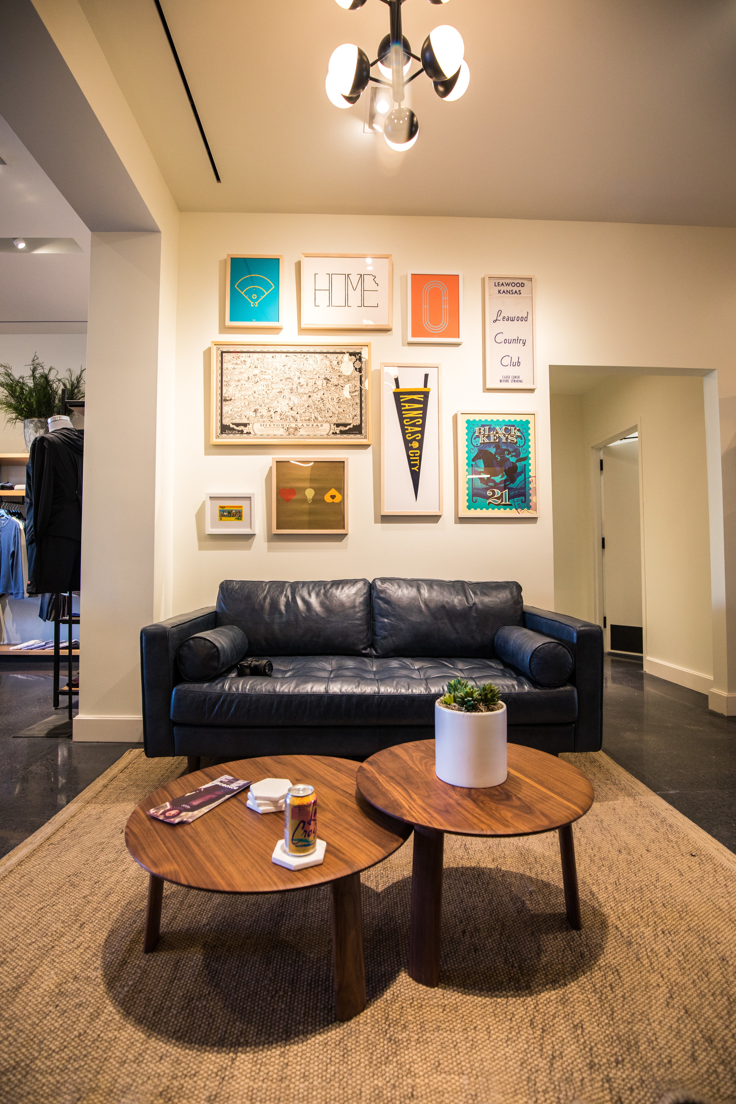 The Lounge - A big comfy couch sits right outside of the fitting rooms so take a friend or two!