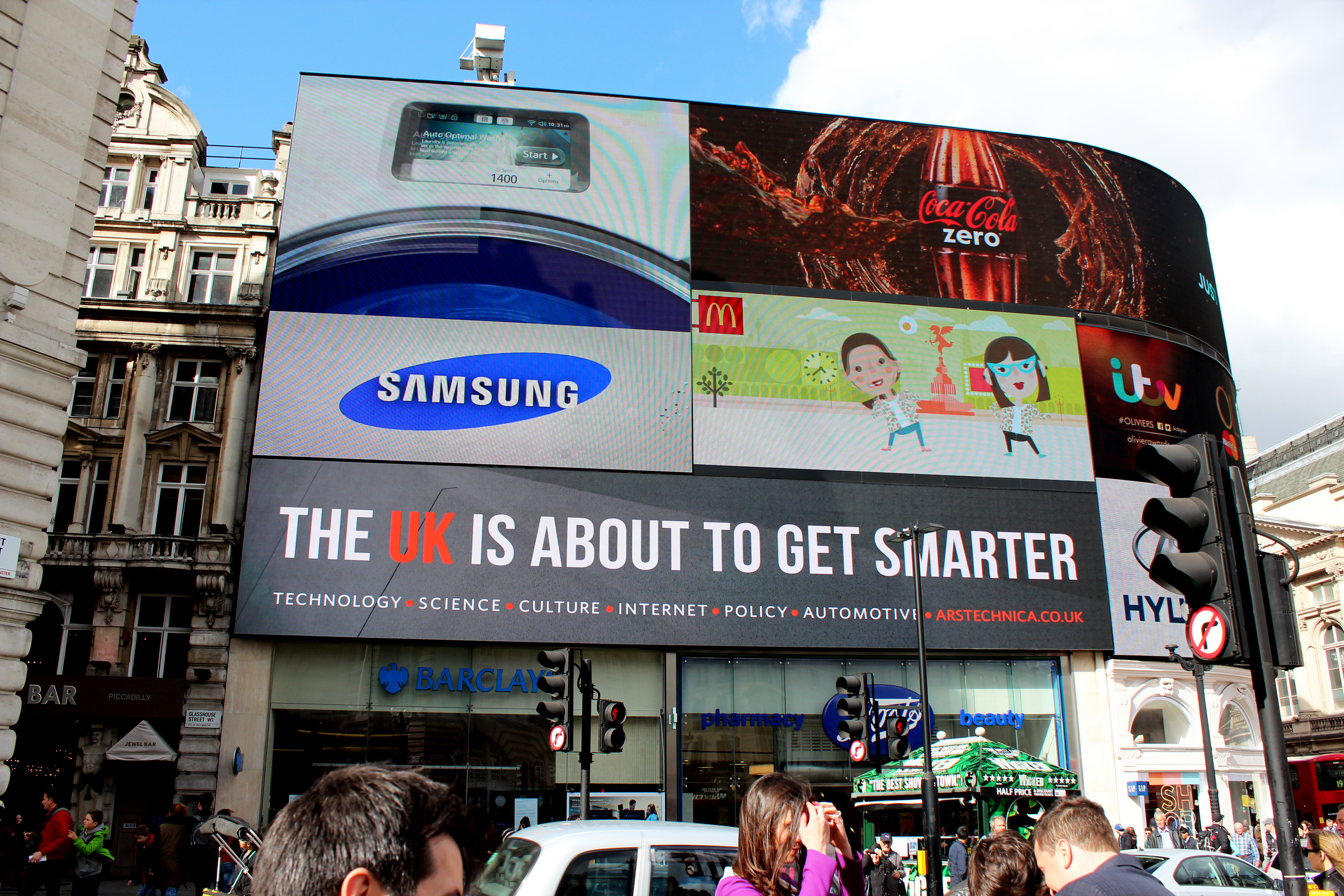Ars Technica UK, Piccadilly Circus