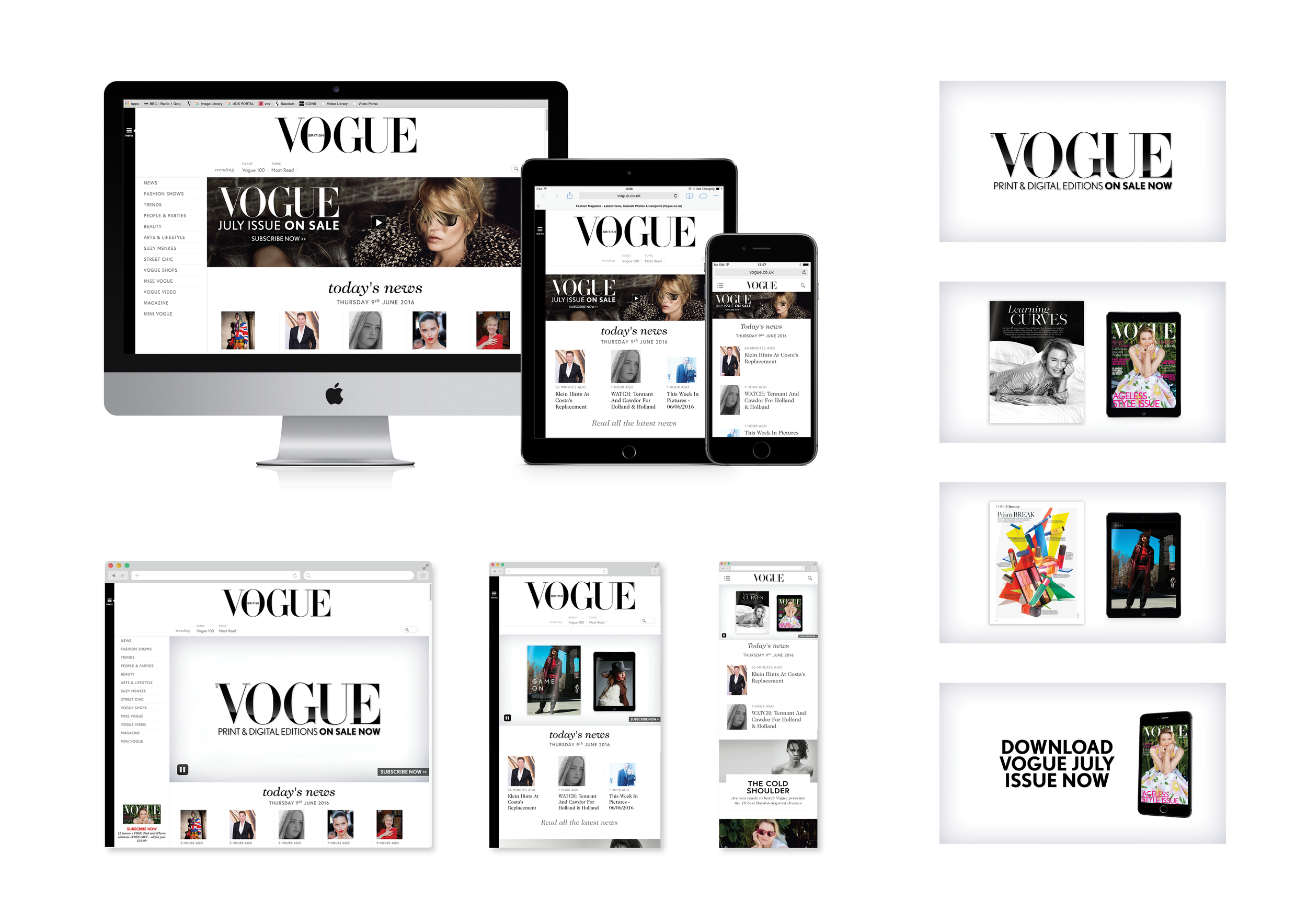 British Vogue video campaign