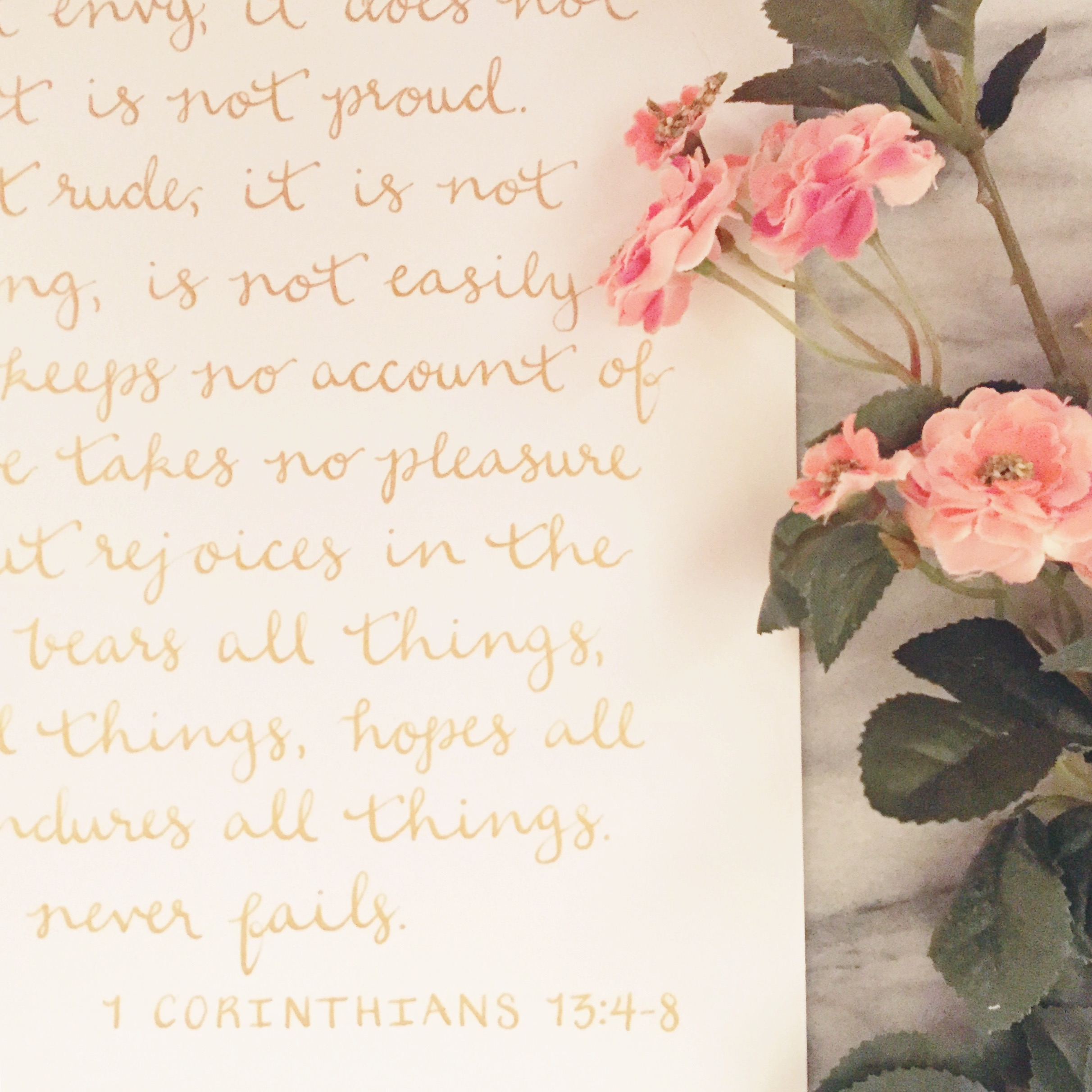first corinthians calligraphy gift 1