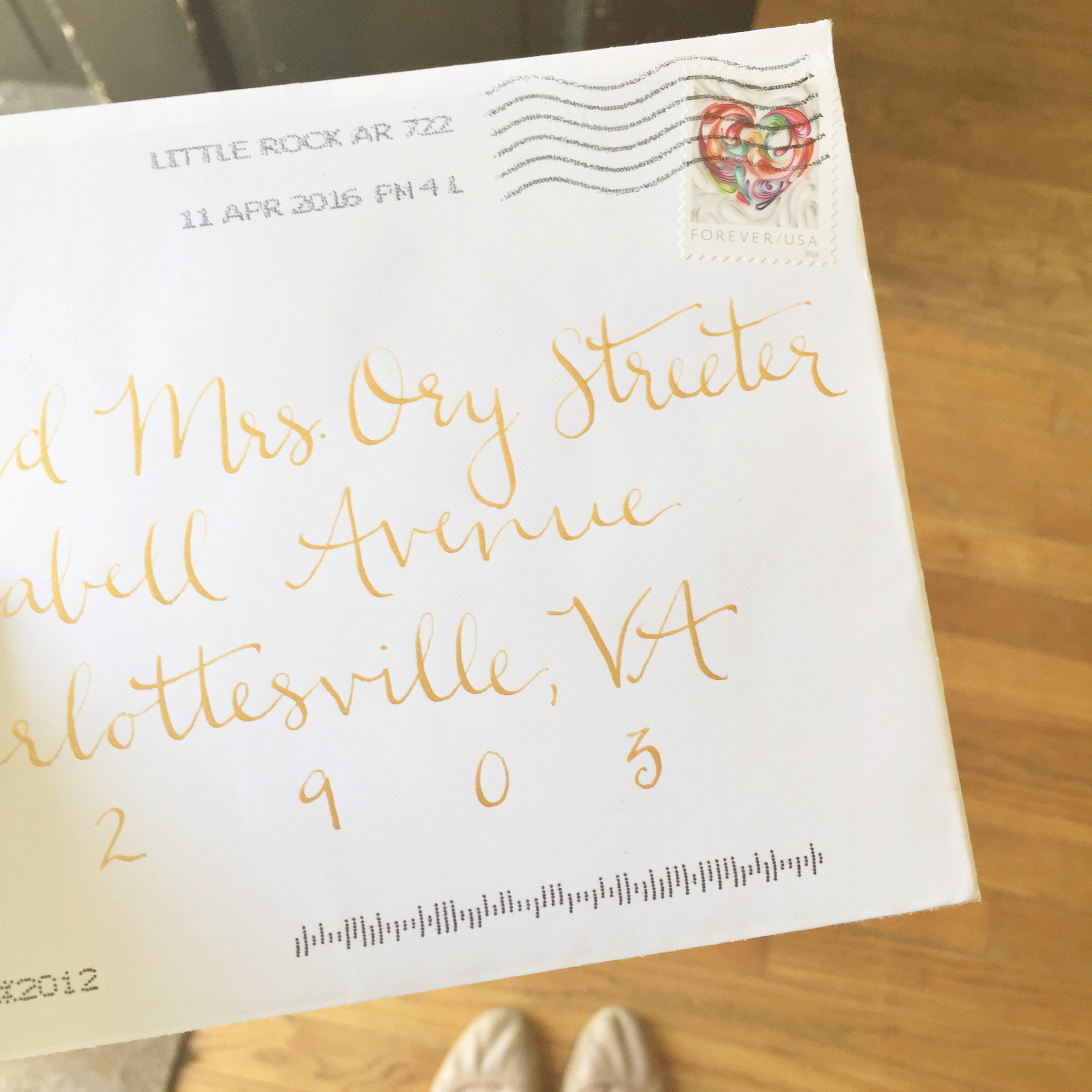 It was such an exciting day to receive Morgan's wedding invitation in the mail!