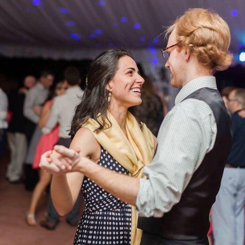 dancing at a friend's wedding