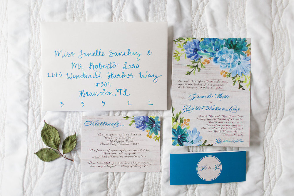 Janelle and Roberto's Wedding Invitations