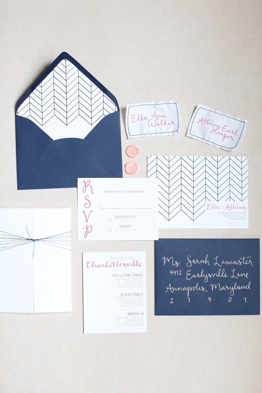 Photo by  Ashley Edmunds Photography  Invitation Suite by  Farmstead Designs  Calligraphy by Ma Belle Calligraphy