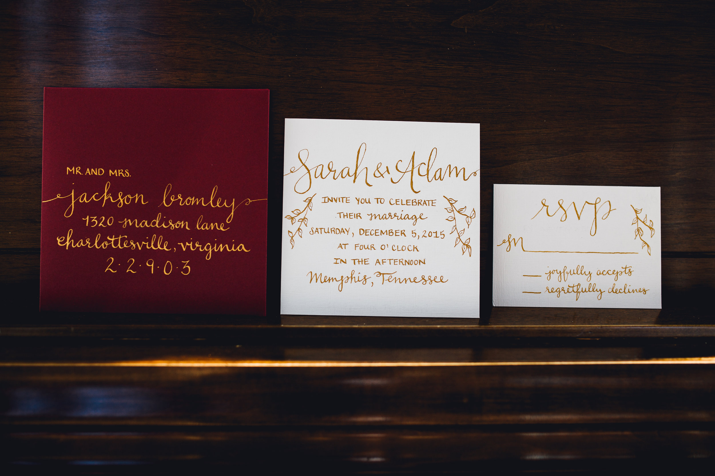 wedding calligraphy invitation suite