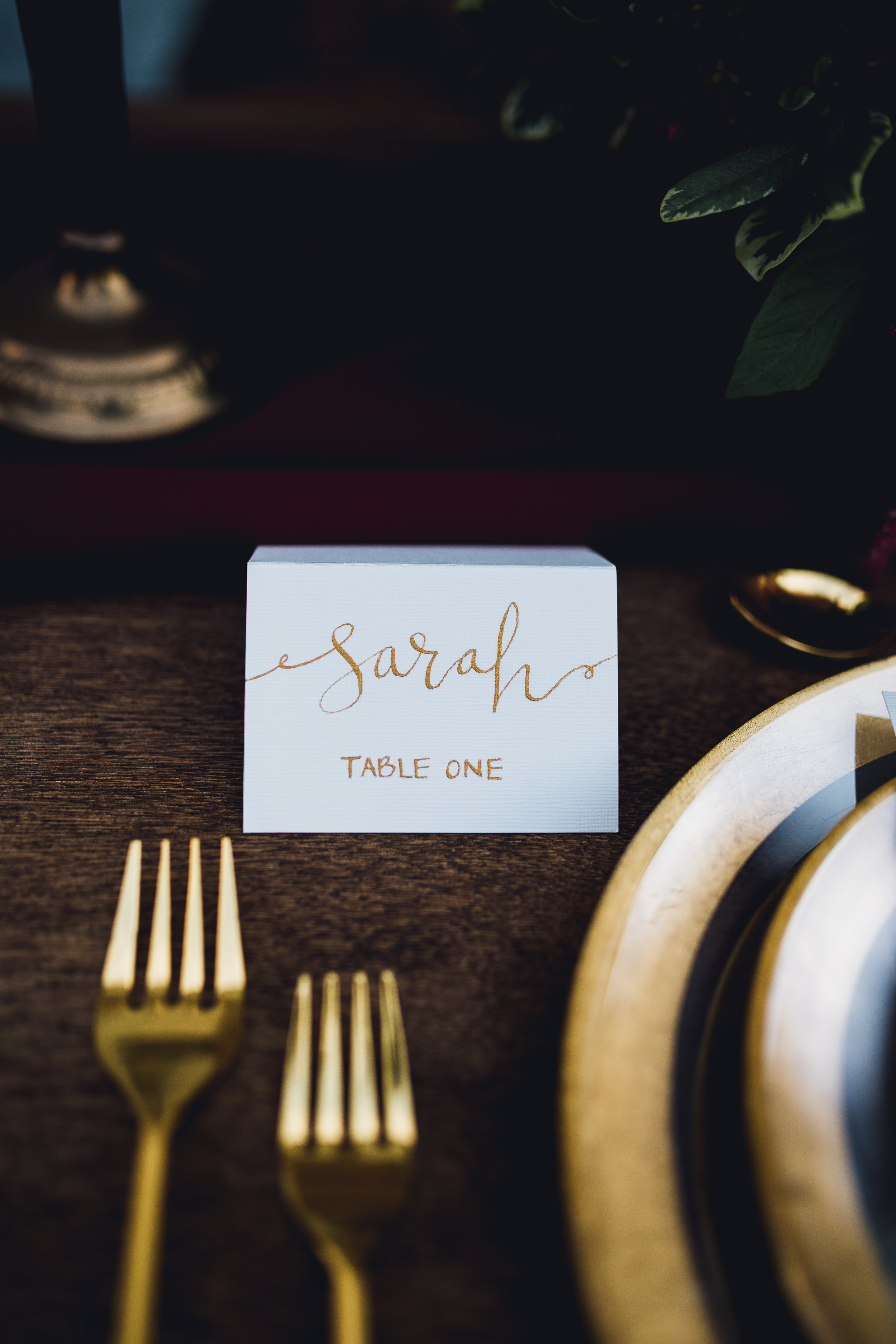 wedding calligraphy place card