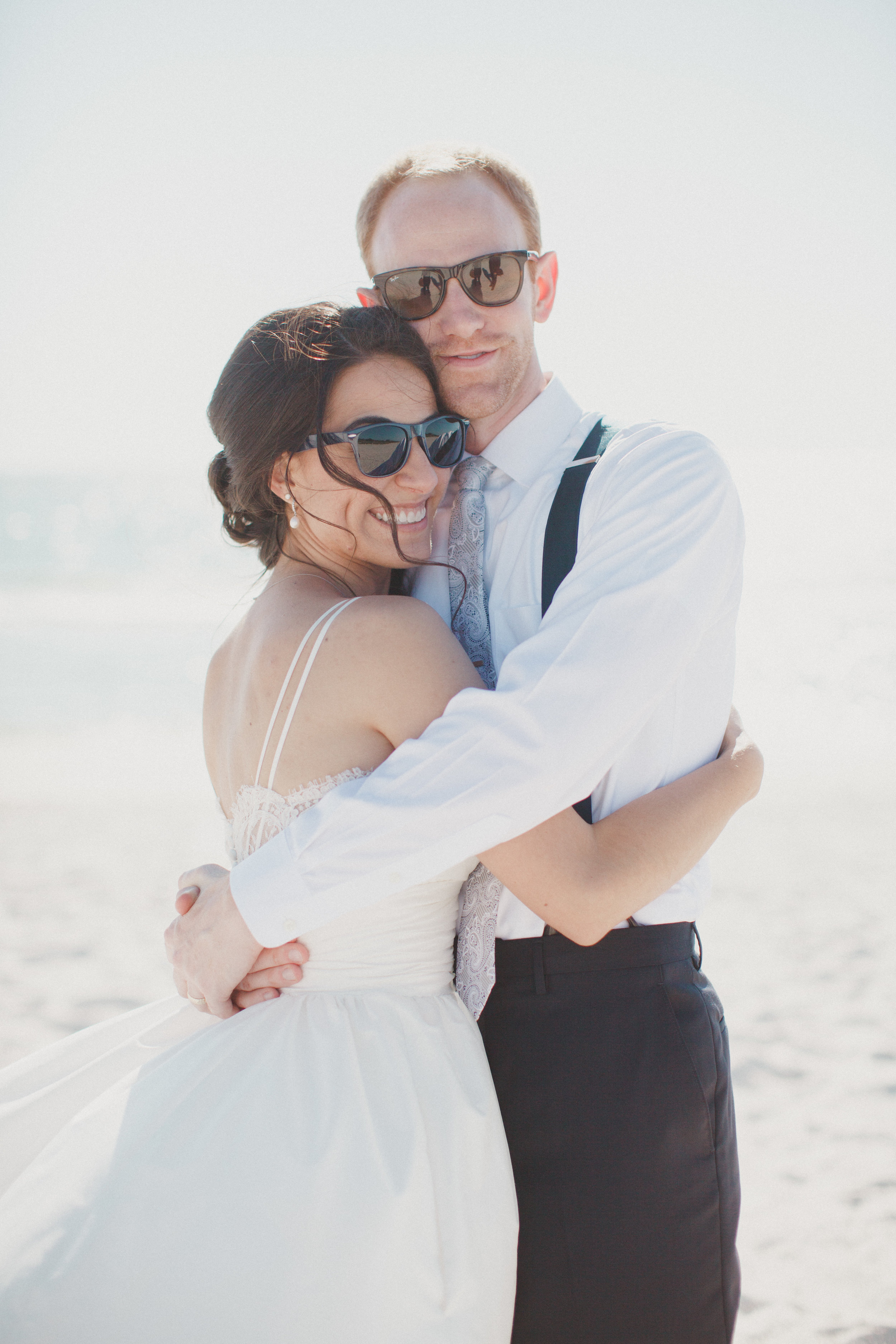 bride and groom carlouel beach wedding
