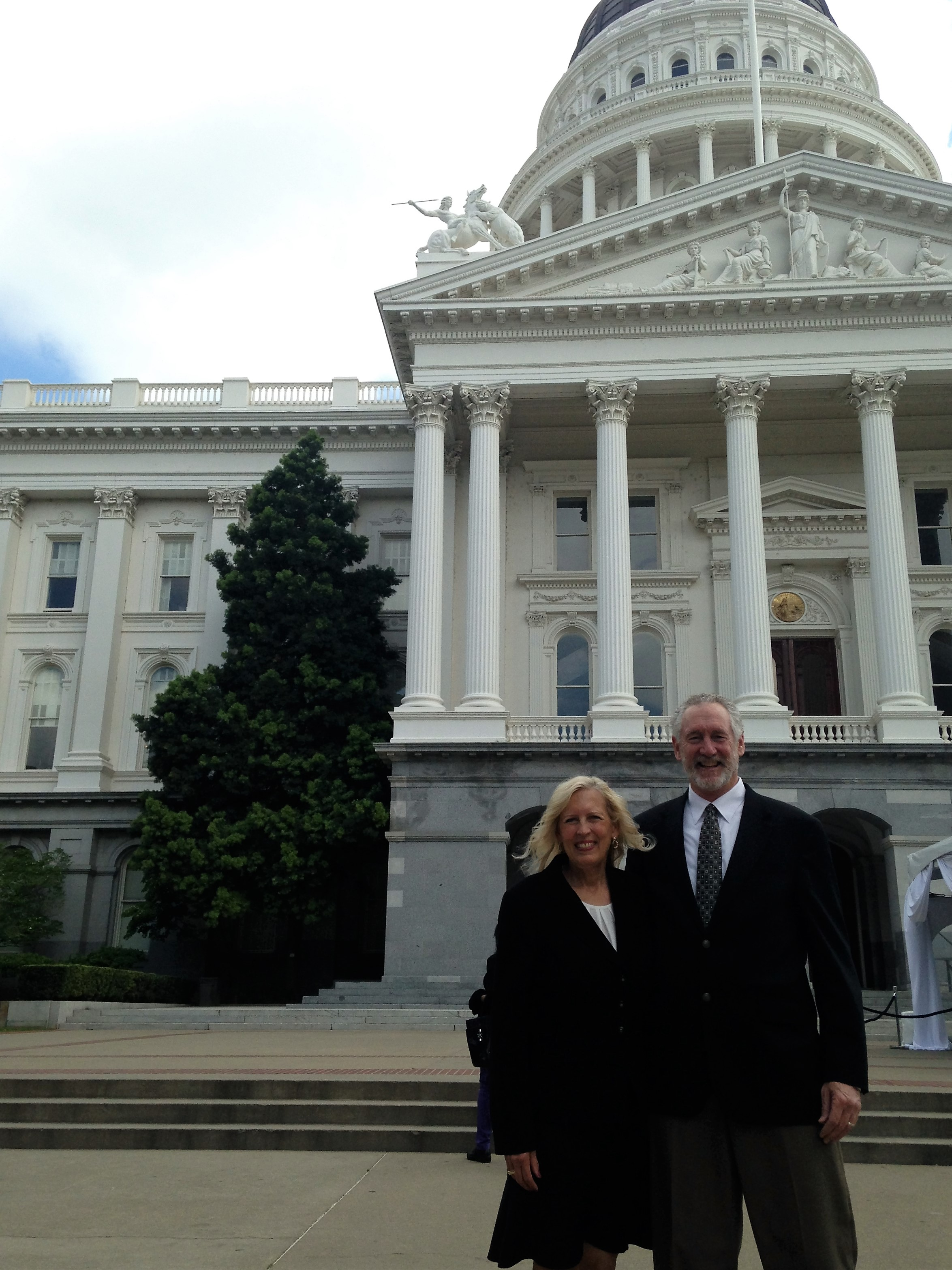 Jenelle and John Miller at the state Capitol building in Sacramento, California, April 11, 2016