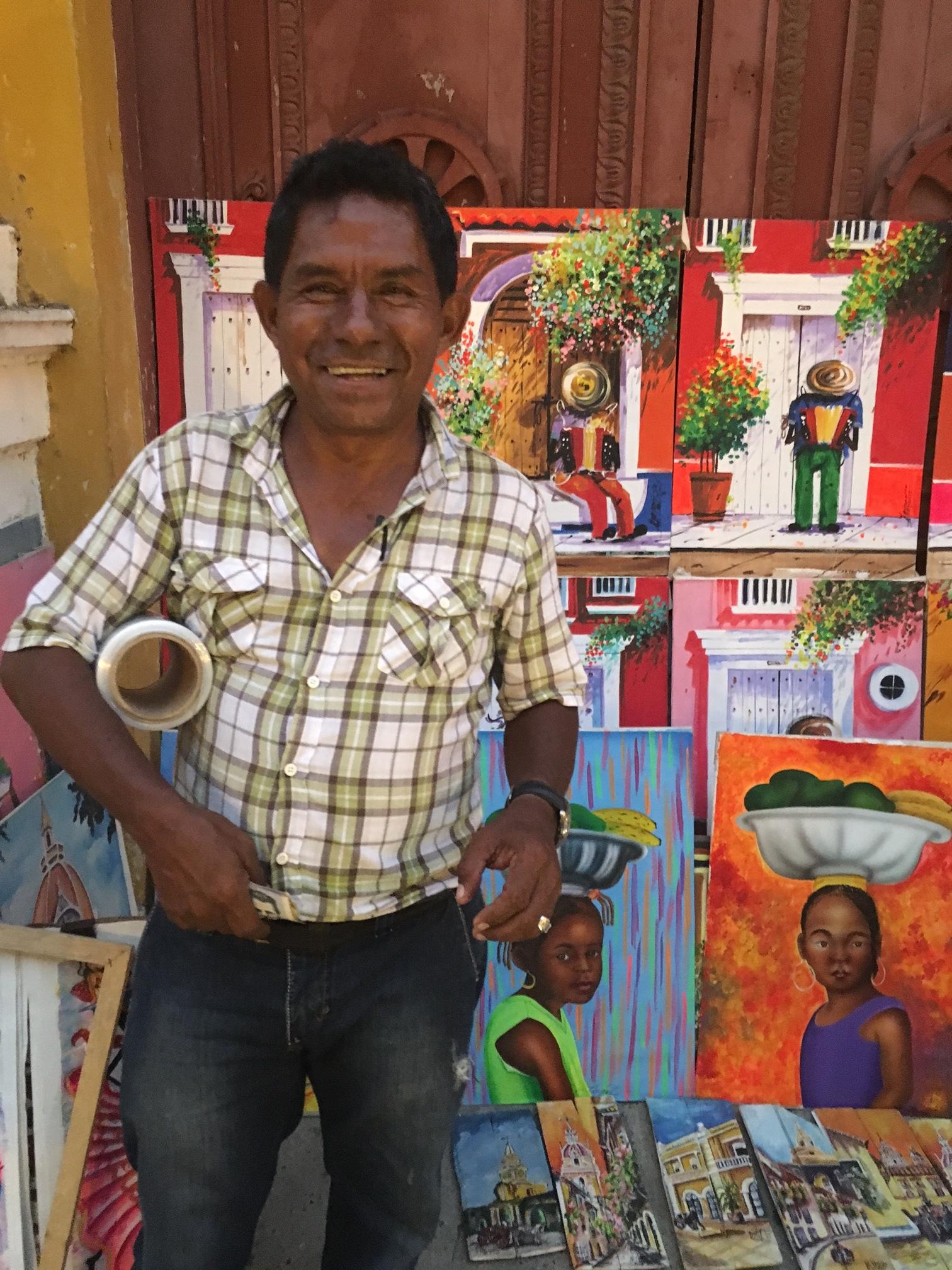 Artist on the Plaza Bolivar