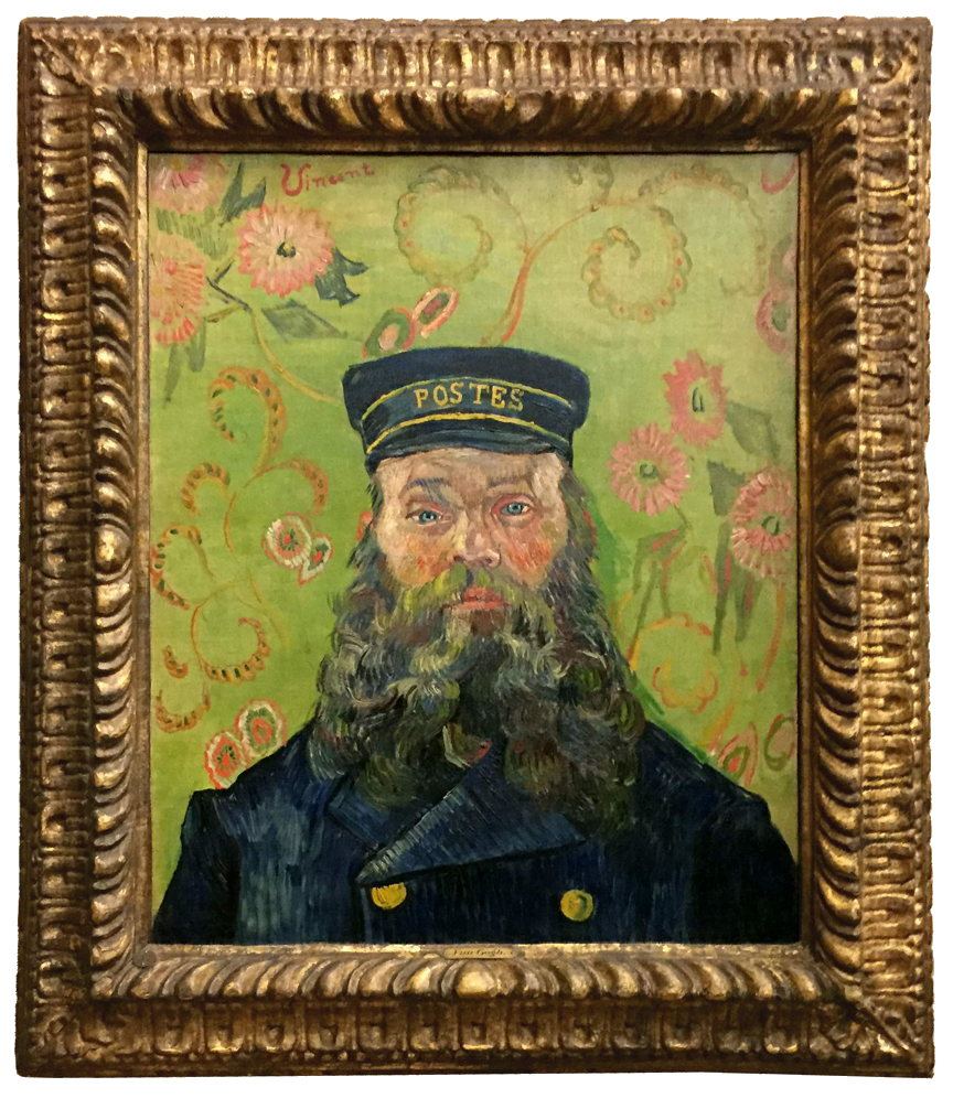 The Postman (Joseph-Étienne Roulin), by Vincent Van Gogh, 1889