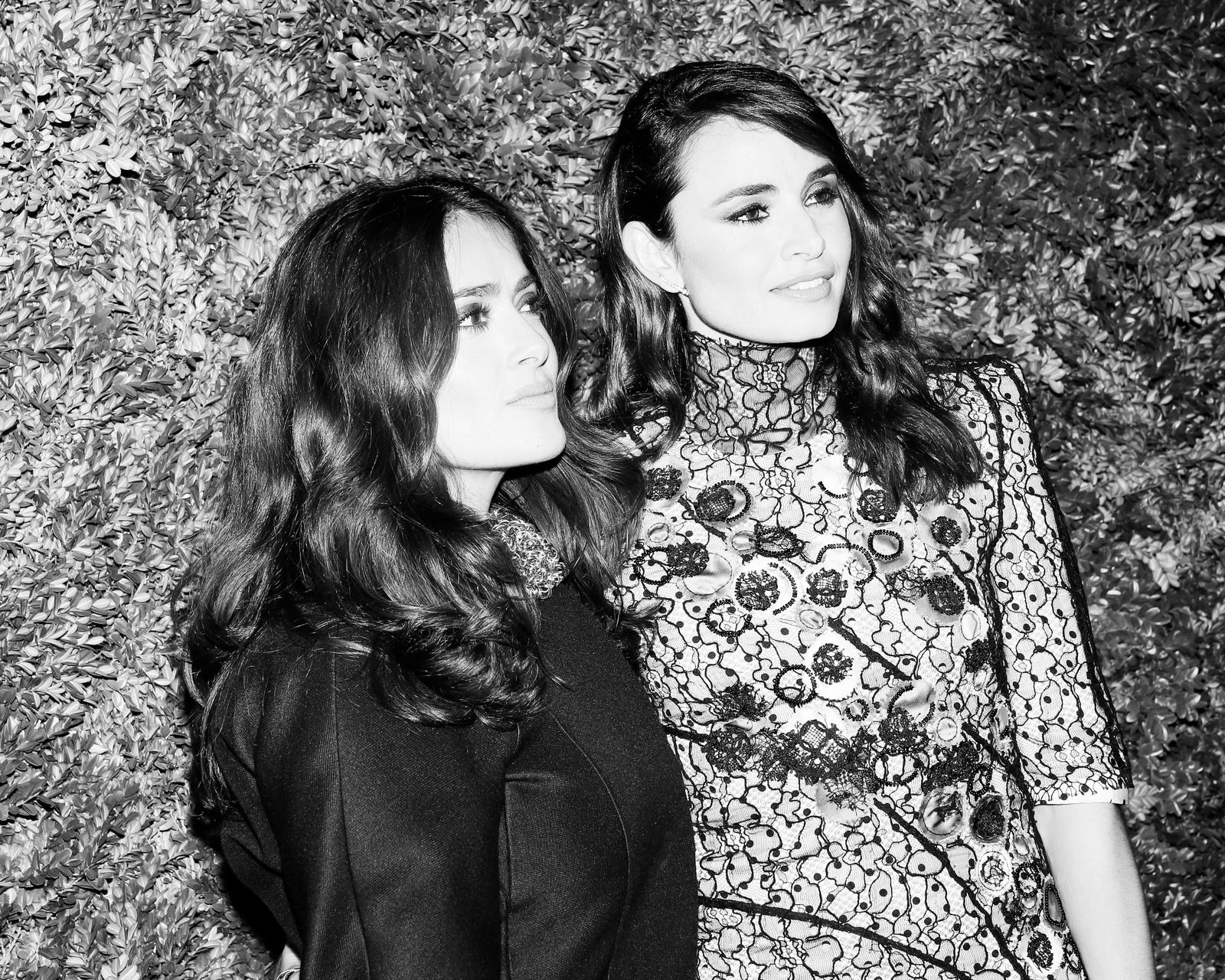 Salma Hayek and Mia Maestro by Aria Isadora