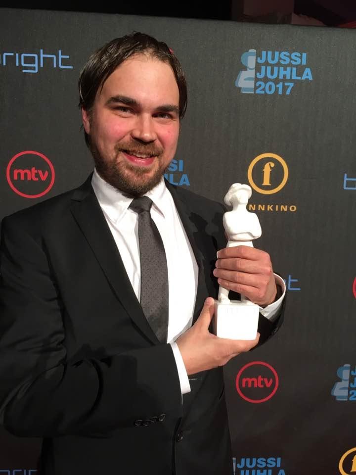 Panu Aaltio  after winning the award