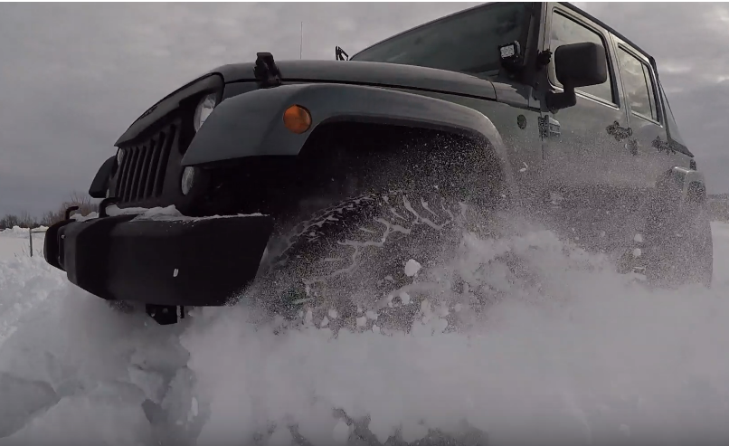 Jeep Wrangler vs. 2 feet of snow - Click to View Video