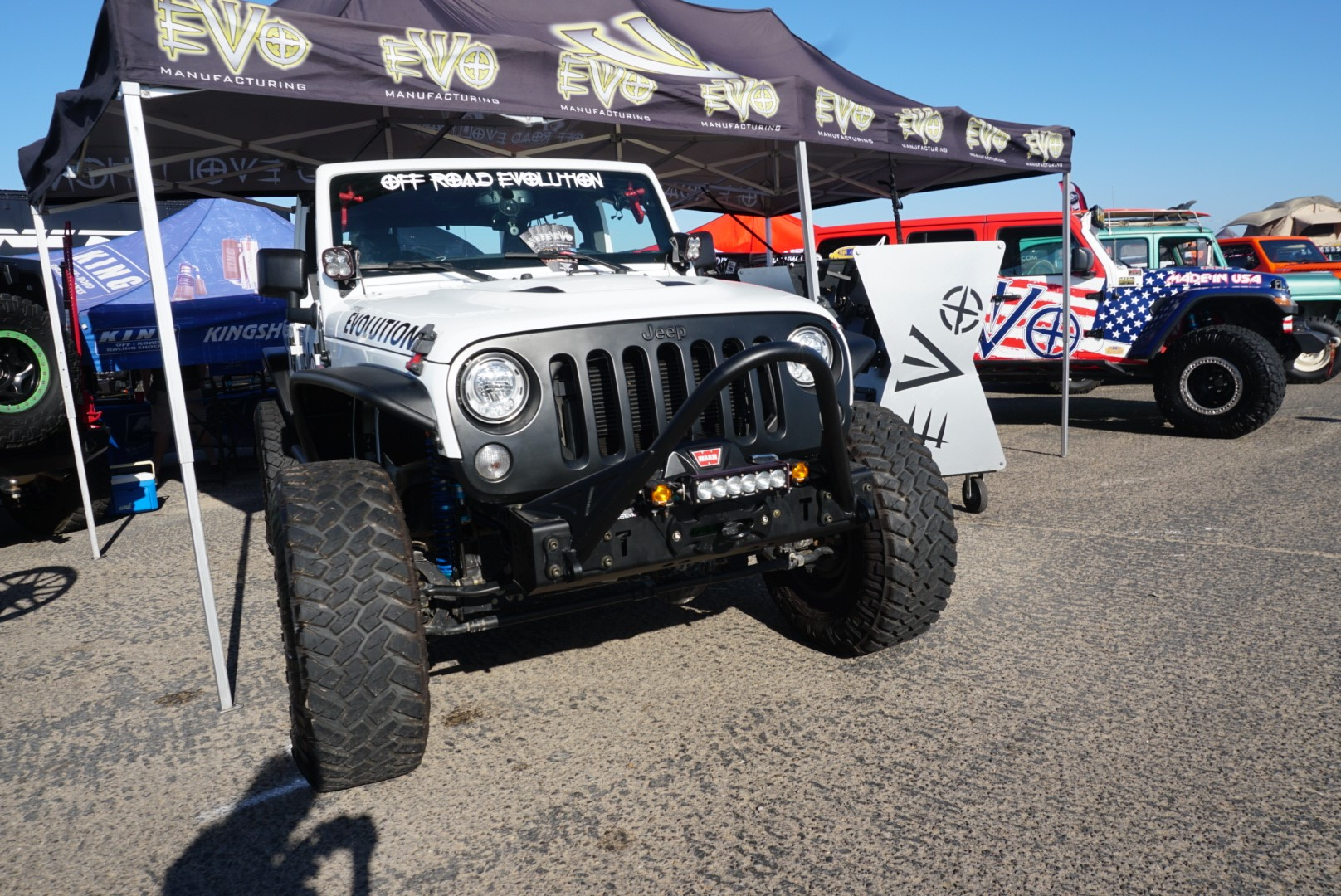 EVO MFG booth at Jeep Bash 2018
