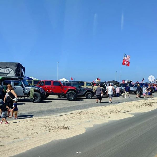 Beach Sand and Jeeps, Beautiful day at Jeep Bash 2018