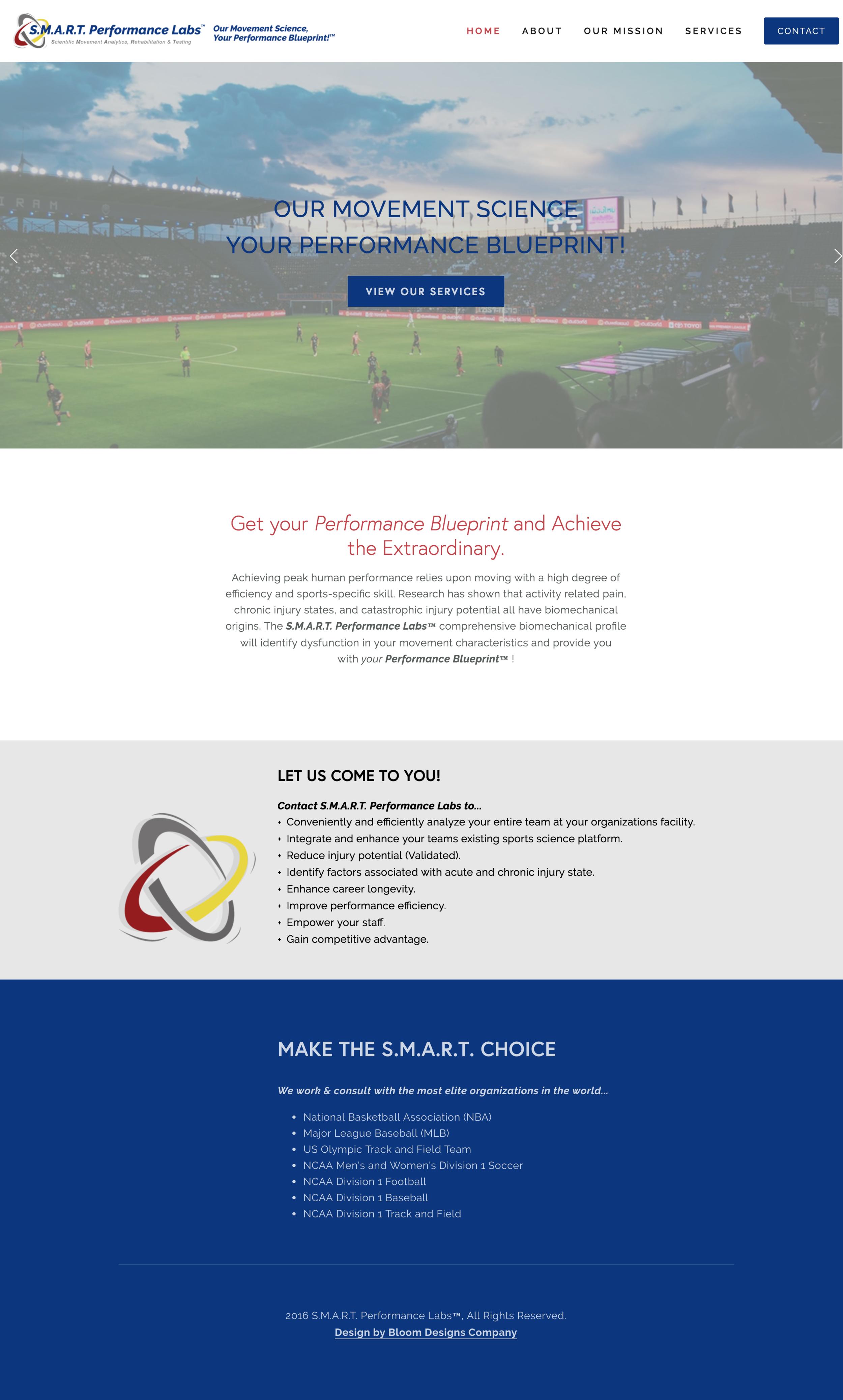 smart-performance-labs-website-design