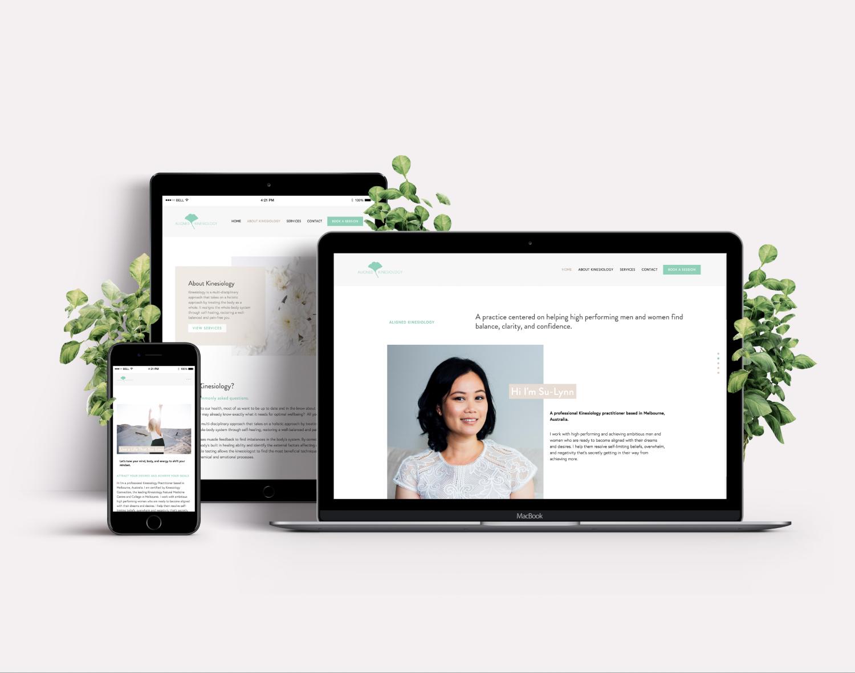 Aligned Kinesiology · Web Design