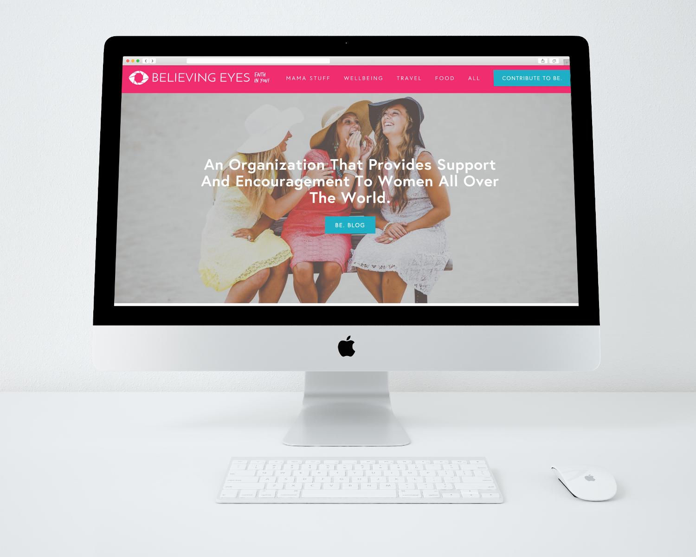 Believing Eyes · Brand + Web Design