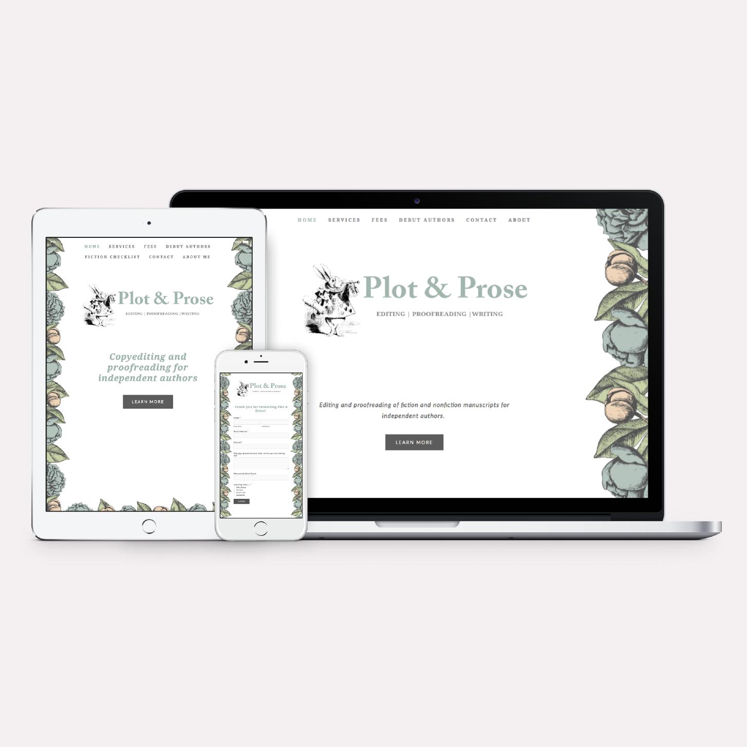 Plot & Prose · Brand + Web Design