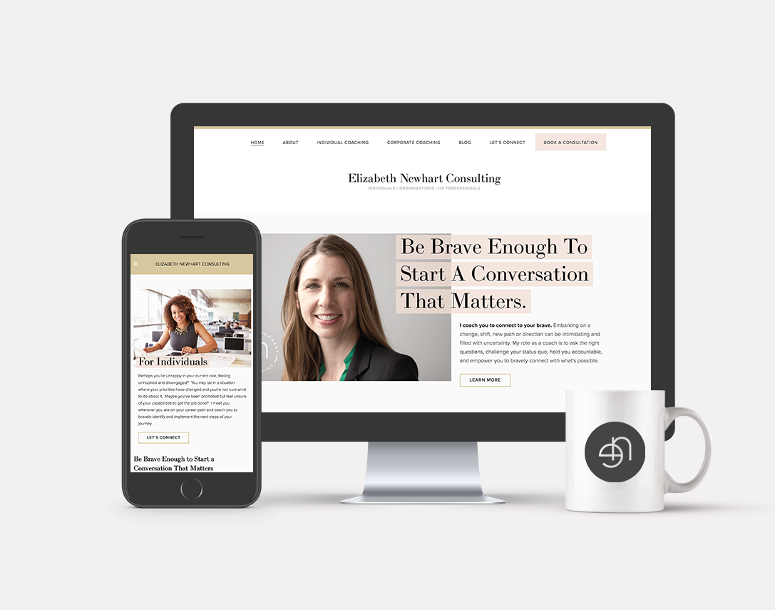 Elizabeth Newhart · Brand + Web Design