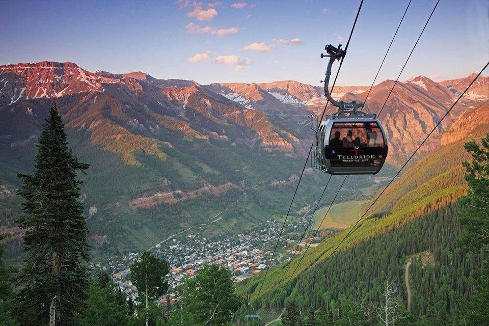 The Telluride Gondola at sunset