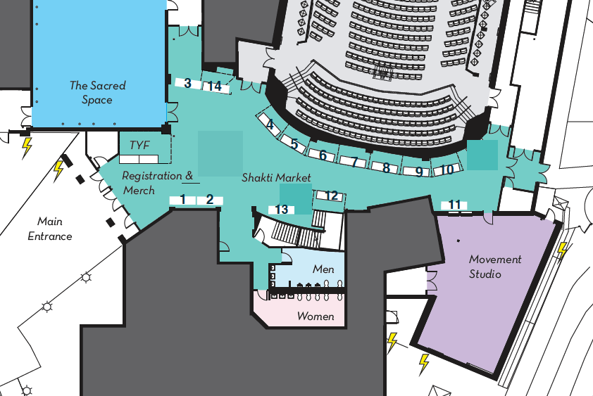 Indoor Vendor Map - Shanti Marketplace 2019