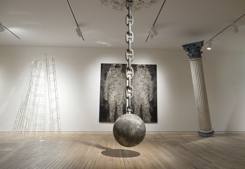 Thumbs Up for the Mothership,  2017  installation view of Dawn DeDeaux's work  MASS MoCA