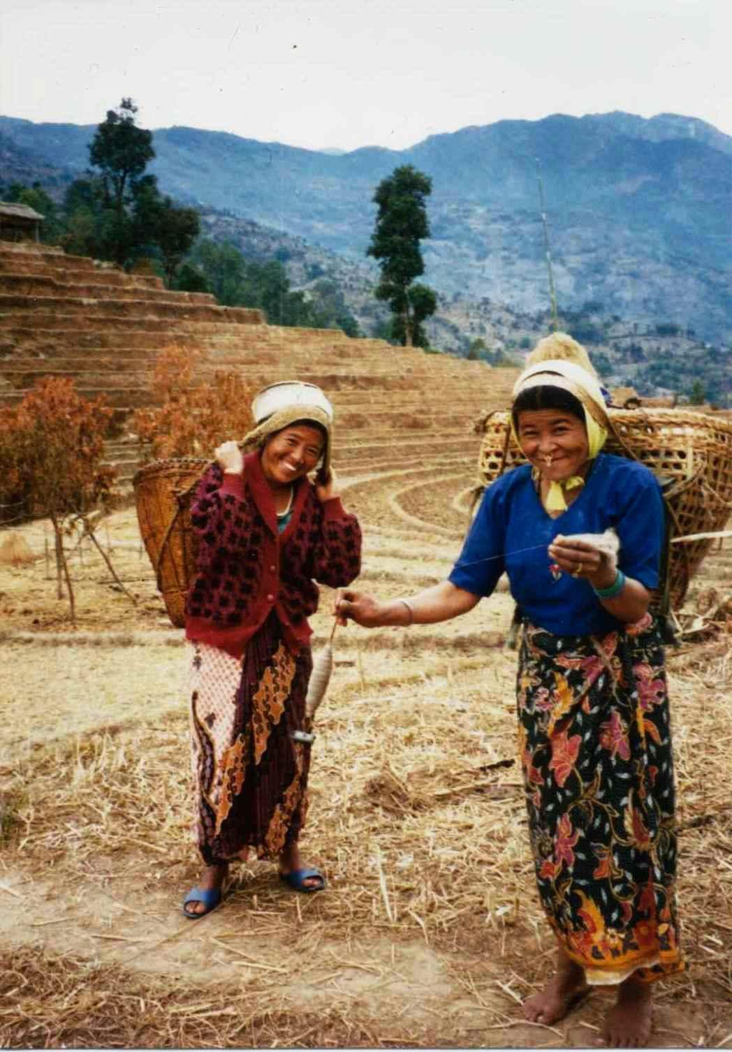 nettle fiber spinners and weavers in nepal