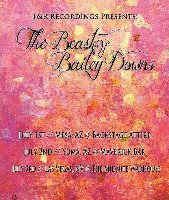 T&R Recordings Artist: The Beast Of Bailey Downs Cardinal (Single) Release Shows June, July 2016
