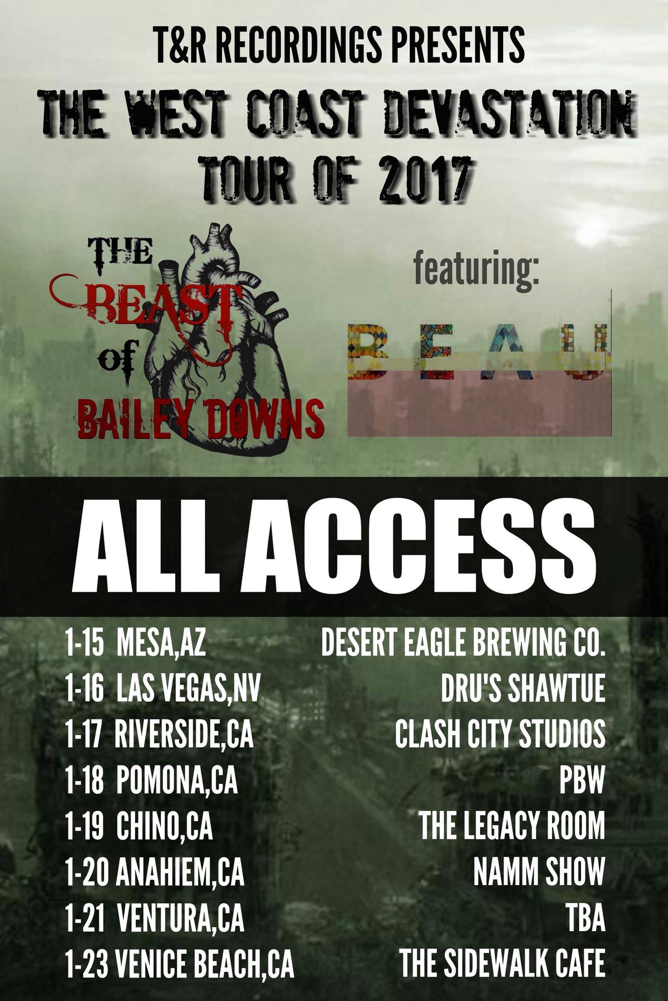 T&R Recordings Presents: The West Coast Devastation Tour!
