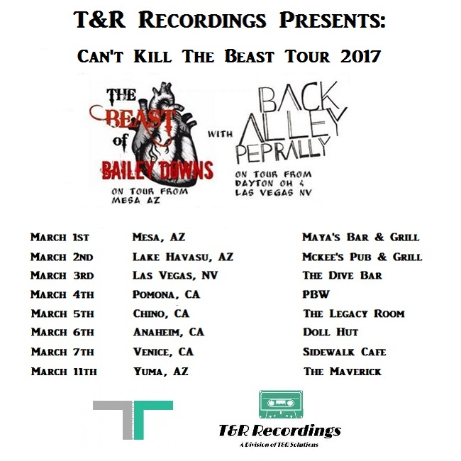 T&R Recordings Presents: Can't Kill The Beast Spring 2017 Tour!