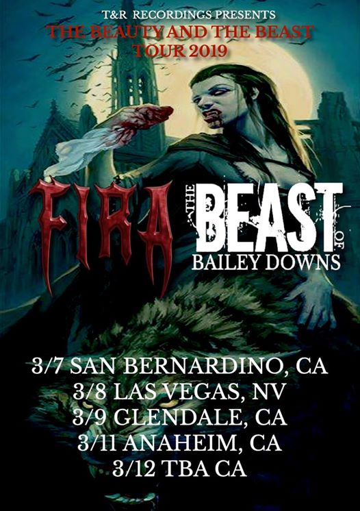 T&R Recordings Events: T&R Recordings Presents The Beauty & The Beast Tour 2019 Featuring The Beast Of Bailey Downs, Fira & Other Guests!