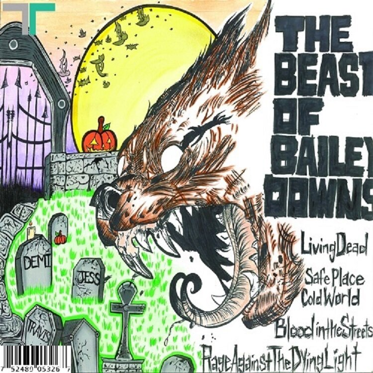 The Beast Of Bailey Downs Full Album Official Release: The Beast Of Bailey Downs (Self-Titled) Back Cover