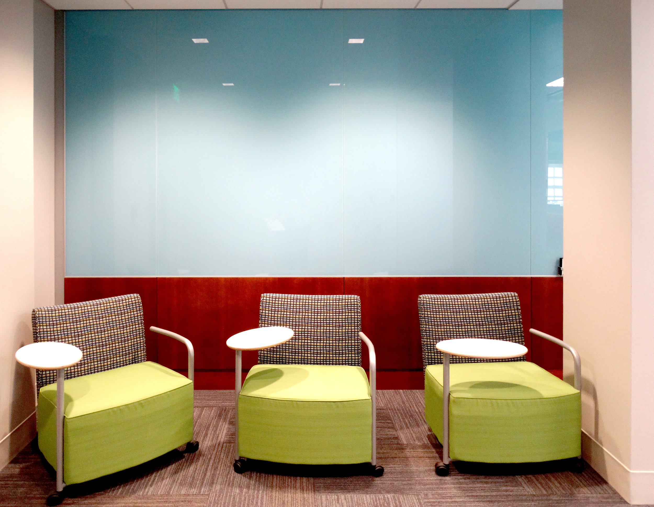 Custom Color Blue Millwork Glass Wall - Spaceworks AI.jpg