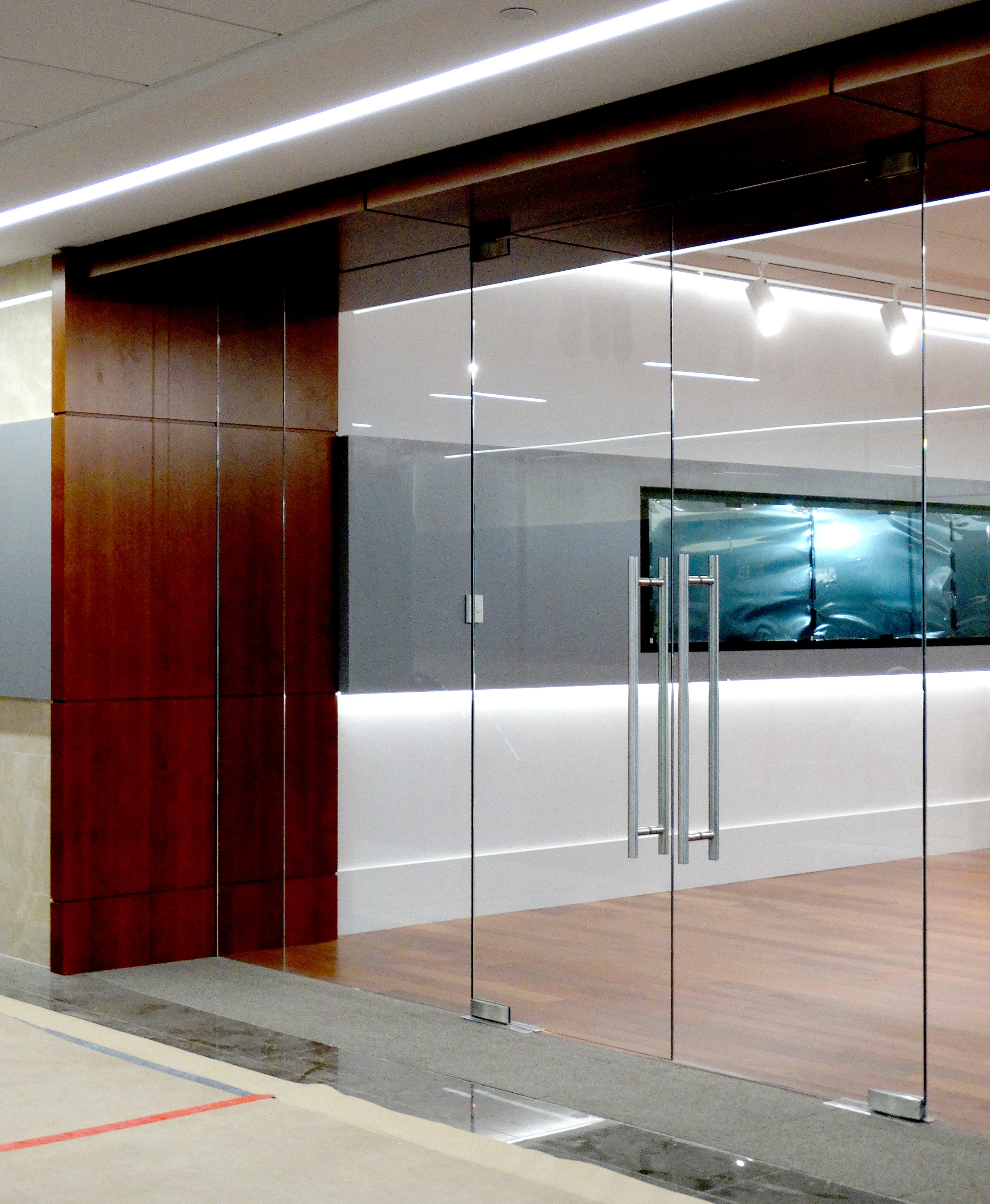 Illume Frameless Glass Double Door System - Spaceworks AI.JPG