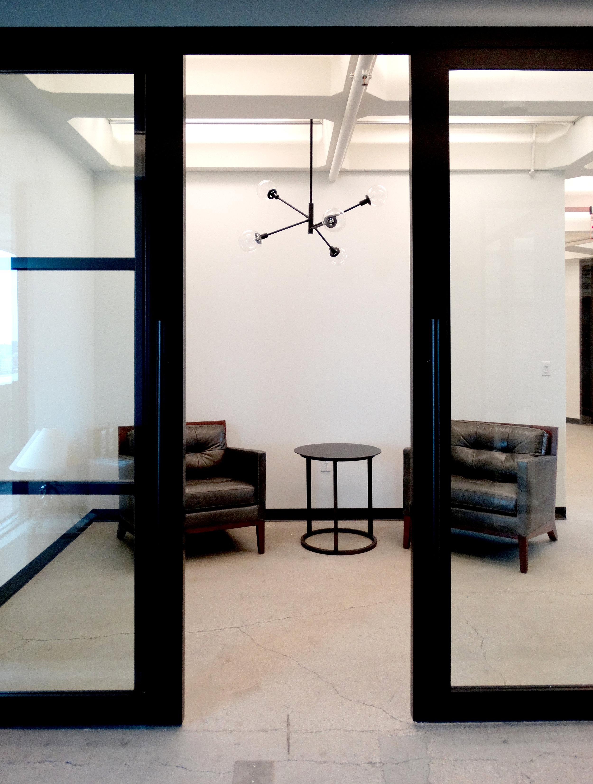 Encase Black Aluminum Framed Bi-Parting Sliding Glass Doors - Spaceworks AI.JPG
